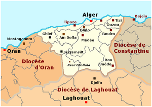 Roman Catholic Archdiocese of Algiers - Map of the Archdiocese of Algiers