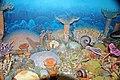 Diorama of a Devonian seafloor - corals, coiled cephalopod, gastropod, crinoids (44933262614).jpg