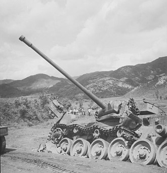 Battle of the Imjin River - Centurion tanks of the 8th Hussars disabled during the retreat of 29th Brigade on 25 April
