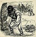 Disegno per copertina di libretto, disegno di Peter Hoffer per L'oro del Reno (s.d.) - Archivio Storico Ricordi ICON012398.jpg