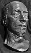 A death mask resembling Disraeli