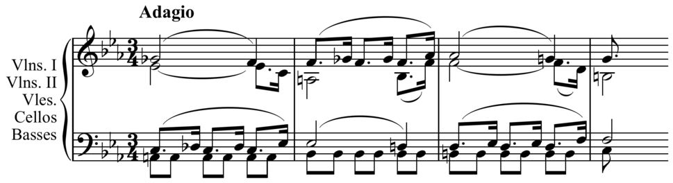 Dissonance in Mozart counterpoint