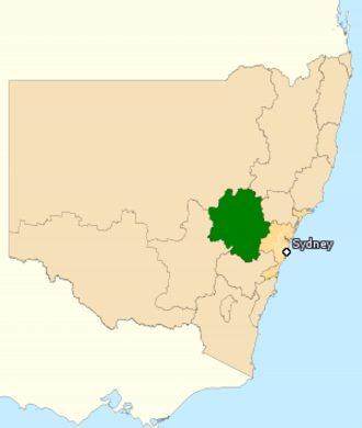 Division of Calare - Division of Calare in New South Wales, as of the 2016 federal election.