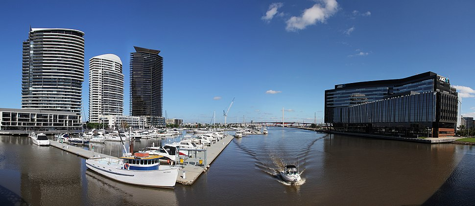 Docklands View with Bolte Bridge %26 ANZ Headquarter Building