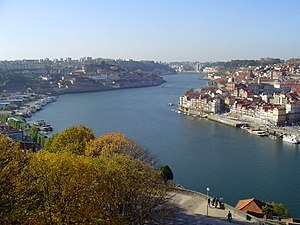 View over Rio (River) Douro - Portugal. Porto ...