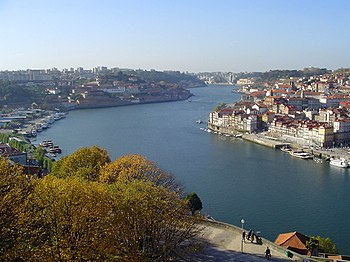 Porto(to the right) and Vila Nova de Gaia (to the left)