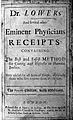 Dr Lower's and several other eminent physicians receipts... Wellcome L0027019.jpg