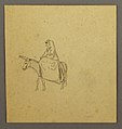 Drawing, Arab woman riding a donkey (CH 18191847).jpg