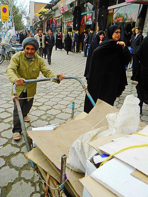 Drayman - A drayman in Nisapur, Iran