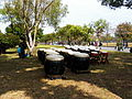 Drums under Trees Shadow of ROCA Infantry School 20120211.jpg