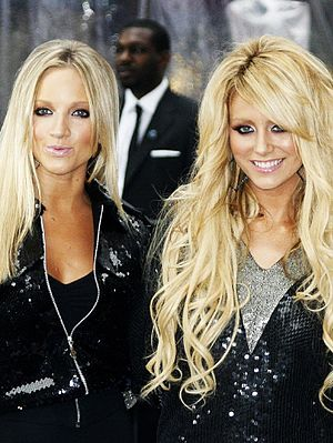 Dumblonde - Dumblonde as Danity Kane members in October 2006. (L–R) Shannon Bex and Aubrey O'Day.