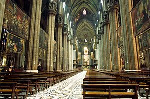 Klang (Stockhausen) - Interior of the Milan Cathedral, where the First and Second Hours of Klang were premiered