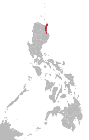 Dupangingan Agta language map.png