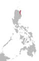 Dupangingan Agta language map.png