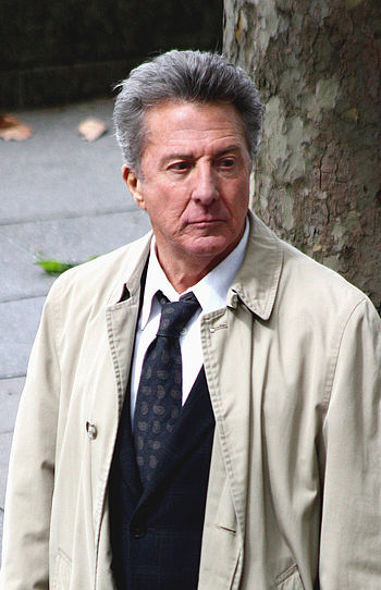 English: Dustin Hoffman during filming of the ...