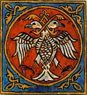 Serbian heraldry - White double-headed eagle of Nemanjići