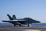 EA-18G Growler of VAQ-133 launches from USS John C. Stennis (CVN-74) in the Red Sea on 18 April 2019 (190418-N-OM854-0182).JPG