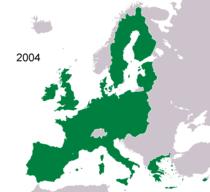 az EU térképe (2004)