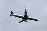 EVA Air Airbus A321-211 B-16205 on Final Approach at Taipei Songshan Airport 20150201a.jpg
