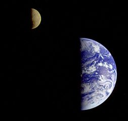 Terminator lines on the Earth and the Moon