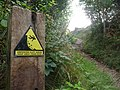 East Devon , Coast Path and Hazard Sign - geograph.org.uk - 1477288.jpg