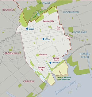 East New York, Brooklyn - Boundaries of East New York