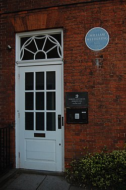 Photo of William Withering blue plaque