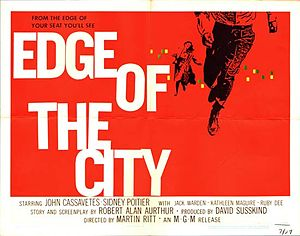 Edge of the City - Theatrical release poster designed by Saul Bass
