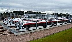 Edinburgh tram fleet, 2012 (geograph 3176705).jpg