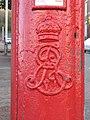 Edward VII postbox, Sunderland Road - Howe Street - royal cipher - geograph.org.uk - 1591701.jpg