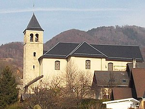 Aiton, Savoie - The church in Aiton