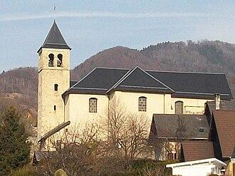 Aiton, Savoie - The church in Aiton