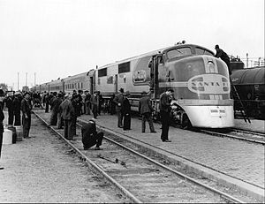 El Capitan (train) - The train at Albuquerque in 1938