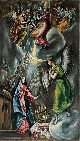 El Greco (Doménikos Theotokópoulos) - The Annunciation - Google Art Project (807333)