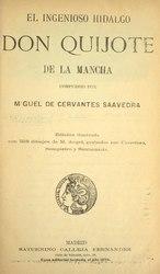 Miguel de Cervantes: El ingenioso hidalgo Don Quijote de la Mancha