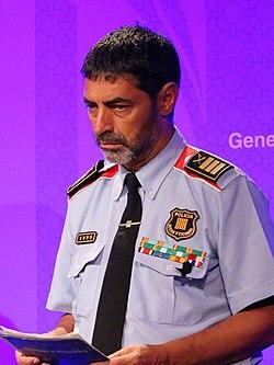 El major dels Mossos, Josep Lluís Trapero, a la compareixença informativa del 21 d'agost de 2017.jpg
