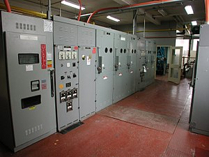 Electrical room - Main electrical distribution room in a large building.