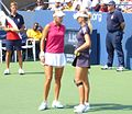 Elena Vesnina and Maria Kirilenko 2 - 2009 US Open.jpg