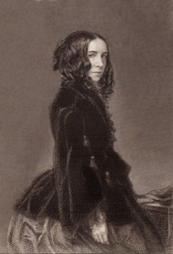 Elizabeth barrett browning, poetical works volume i, engraving