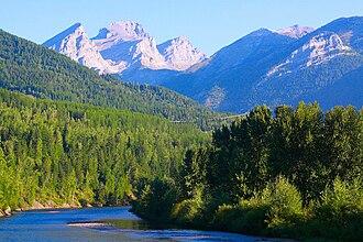 Elk River (British Columbia) - Elk River near Fernie, British Columbia