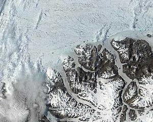 Ayles Ice Shelf - Before: Ellesmere Island on July 12, 2002.