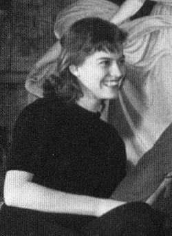 Elsa Prawitz på Dramatens elevskola läsåret 1950-1951.