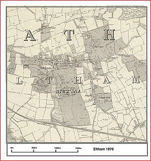 Eltham - Image: Eltham map 1870