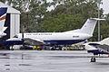Embraer EMB-120ER Brasilia (N510KT) parked at the REX heavy maintenance hangar at Wagga Wagga Airport.jpg