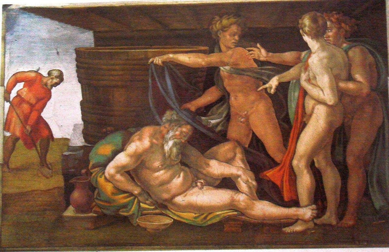 ミケランジェロ、システィーナ礼拝堂のフレスコ画