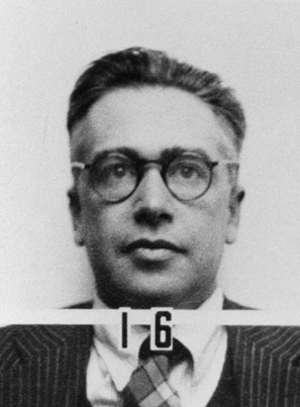 Emilio Segrè - Segrè's ID badge photo from Los Alamos