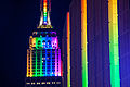 Empire State Building and Madison Square Garden in Rainbow Colors for Gay Pride 2015 (18642006144).jpg
