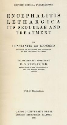 Encephalitis lethargica - Wikipedia
