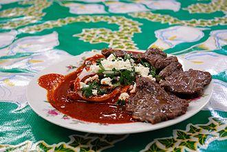 Oaxacan cuisine - Enchiladas with tasajo beef