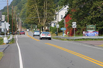 Herndon, Pennsylvania - Entering Herndon from the south on Pennsylvania Route 147